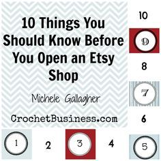 10 Things You should Know BEFORE You Open an Etsy Shop   Crochet Blogs   New to Blogging   Make Money Working From Home   Crochet Business Interviews   Affiliates Partners   Selling Crochet Tips