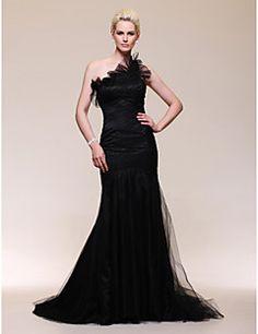 GODELINE - Vestido de Noche de Satén y Tul – USD $ 99.99