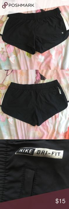 Hurley x Nike dri-fit shorts Black shorts with stretch waistband, worn only 2 or 3 times. Hurley Shorts