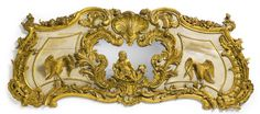A Rococo style carved giltwood and grey decorated pelmet<br>possibly England, second half 19th century | Lot | Sotheby's Beautiful M-R
