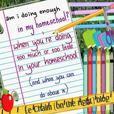 Am I doing enough in my homeschool? advice and information  | Le Chaim (on the right)