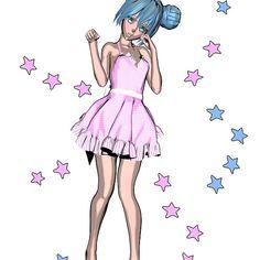 Blue Sakura Stars
