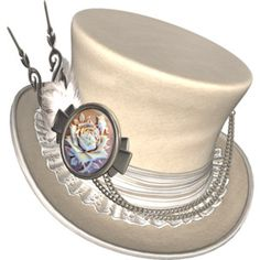 White Steampunk Hat to go with White steampunk rabbit!