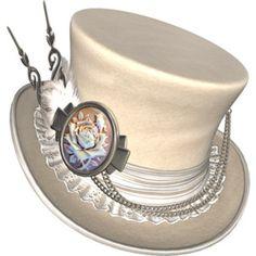 White Steampunk Hat to go with White steampunk rabbit!
