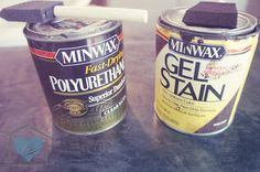 How to gel stain cabinets and furniture