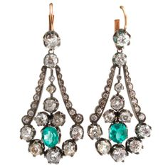 Spectacular Diamond Georgian Earrings