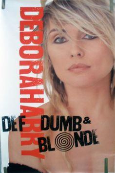 RARE BLONDIE DEF DUMB & BLONDE 1989 VINTAGE ORIG MUSIC RECORD STORE PROMO…