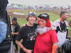 Jason Lawrence at High Point with the clown
