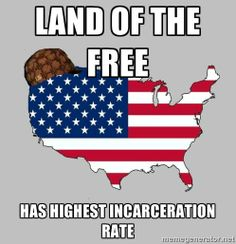 Because in 'Mericuh, prisons are filled for profit! #ScumbagAmerica