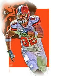 618eef98f Gary Barnidge by Joe Hamilton Cleveland Browns Football