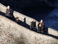 Khaleesi is here: Alfie's arrival comes not long after Emilia Clarke made her debut on set...