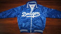 Los Angeles Dodgers Vintage RARE Satin Coat Jacket XL Classic Extra Large