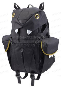 Big Cats Backpack (L), Black , L Size - Morn Creations | YESSTYLE