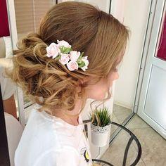 Причёски с цветами из фоамирана