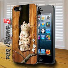 cute kitten in a tree Black Case for