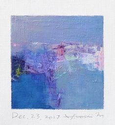 Dec. 23 2017 Original Abstract Oil Painting 9x9 painting