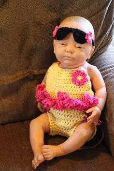 Ravelry: Made In The Shade Halter Suit and Sunglasses Headband pattern by Sick 'Lil Monkeys