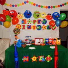 Sesame Street birthday party!!