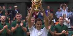 Federer, 35, is now the oldest male player in the Open era to win the Wimbledon trophy. He is the second oldest to win a major in the professional era behind Ken Rosewall, who was 37 years and 62 days when he won the 1972 Australian Open.