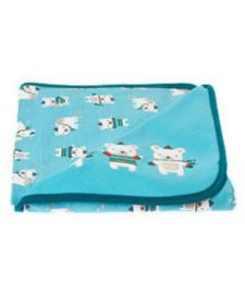 NWT GYMBOREE SNOW BEAR Reversible Baby Bear Blanket boys blue