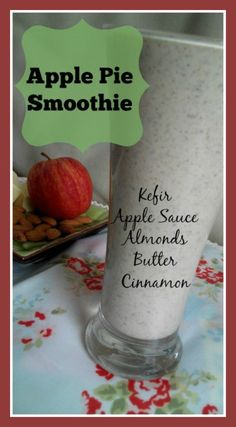 Apple Pie Smoothie perfect for breakfast or as a snack. Packed with goodness and nutrients it is delicious and filling! Tastes just like apple pie! Loula Natural