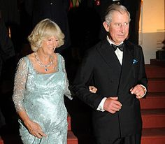 The Prince of Wales and Duchess of Cornwall arrive at the Maharaja's Palace in Patiala, India to attend a banquet with Maharaja of Patiala, Captain Amarinder Singh, 4 October 2010.