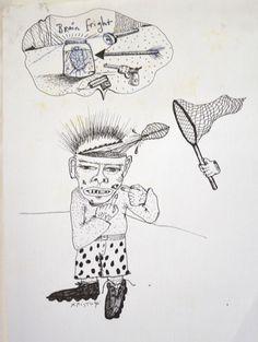 'Freaking Out' Book Illustration. published 1990. Australia.