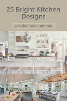 luxury kitchen Check out these 25 bright, beautiful kitchens Home Design, Luxury Kitchen Design, Best Kitchen Designs, Luxury Kitchens, Grand Kitchen, Kitchen On A Budget, Bright Kitchens, Cool Kitchens, Diy Kitchen Furniture