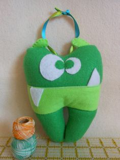 Felt Tooth Fairy Pillow  Monster by RainbowStitchesGold on Etsy, $20.00