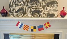 Custom Nautical Flag Paper Banner - 4 or 5 Flags by HookedonArtsNCrafts
