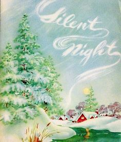 Vintage Christmas card: Silent Night