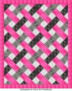 Easy woven quilt pattern -- triangles by Jenny Ann Morgan