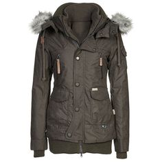 Fashionable Faux Fur Hooded Zippered Thick Fleece Coat For Women