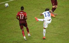 USA 2 Portugal 2 in June 2014 in Manaus. Jermaine Jones equalised on 64 minutes in Group G #WorldCupFinals