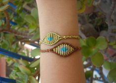 Macrame eye bracelet newborn size/evil eye by lulupica on Etsy Red String Bracelet, Macrame Bracelets, Evil Eye, Embroidery, Eyes, Decoration, Awesome, Jewelry, Diy Kid Jewelry