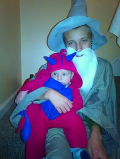 diy Little dragon and gandalf the grey Halloween costumes