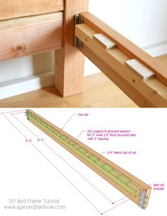 Diy Furniture Farmhouse How To Build – folding Diy Bed Frame Plans, Diy King Bed Frame, Bed Frame And Headboard, Wood Headboard, Bed Plans, Bed Frames, Diy Furniture Plans Wood Projects, Woodworking Furniture Plans, Wood Furniture