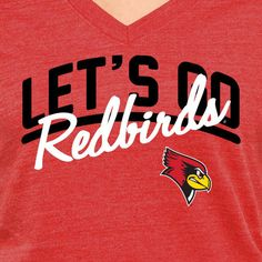 f74c6079 Illinois State Redbirds Women's Let's Go Tri-Blend V-Neck T-Shirt -