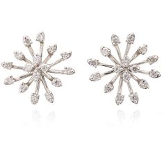 Earrings ($1,260) ❤ liked on Polyvore featuring jewelry, earrings, diamond earrings, diamond jewelry, diamond jewellery, sparkling jewellery and stud earrings