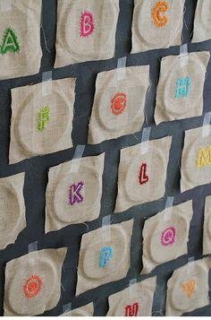 Alphabet in progress by Laura Hanley on flickr