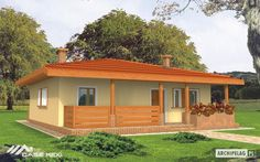 case pe un singur nivel sub 100 de mp Single floor houses under 100 square meters 4