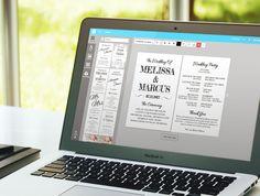 Design your wedding program fan