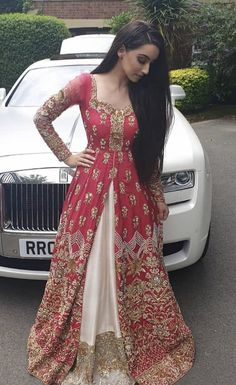 Red White Embroidered Pakistani Bridal Jacket Lehenga Style - Handsome Boys about you searching for. Desi Wedding Dresses, Pakistani Bridal Dresses, Party Wear Dresses, Pakistani Outfits, Bridal Anarkali Suits, Wedding Sarees, Indian Bridal Outfits, Indian Designer Outfits, Designer Dresses