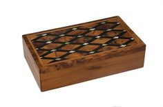 Abalone Marquetry Box Thuja Wood - Click to Enlarge