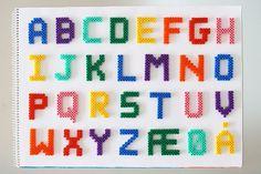 Danish Alphabet hama perler by sah-rah.com - Flickr