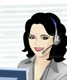 Vector young beautiful girl telephone operator  #GraphicRiver         Beautiful young girl smiling brunette phone operator in headphones.  	        	 More pictures peoples for you:  	      Created: 30July11 GraphicsFilesIncluded: JPGImage #VectorEPS Layered: Yes MinimumAdobeCSVersion: CS Tags: advice #answers #beautiful #brownshirt #brunette #calling #center #communication #contact #conversation #eyes #girl #gray #headphones #help #illustration #monitor #operator #phone #questions #smile…