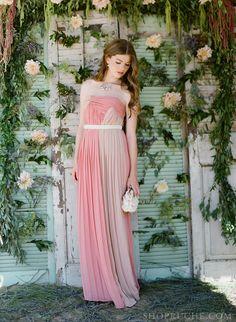 Lace & Lavender: dusty pink #bridesmaid dress