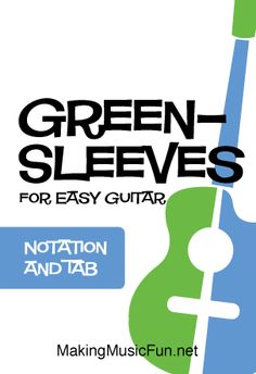 Download and Print 'Greensleeves' for Easy Guitar Solo. Digital download includes arrangement in notation and guitar tab. (2 Pages) #guitarlessons #makingmusicfun Guitar Sheet Music, Guitar Solo, Guitar Tabs, Guitar Lessons For Kids, Free Printable Sheet Music, Lead Sheet, Easy Guitar, Soloing, Kids Songs