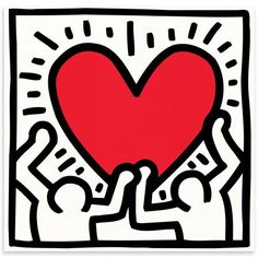 HARING Untitled 1988 de Pop Art, 27x27 cm