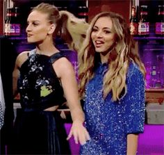 """""""Do you know what? I'm good. We are having an absolute blast in America. Things are going so well. I just wake up every day and thank my lucky stars I have these three girls."""" - Perrie   LM at James Corden"""